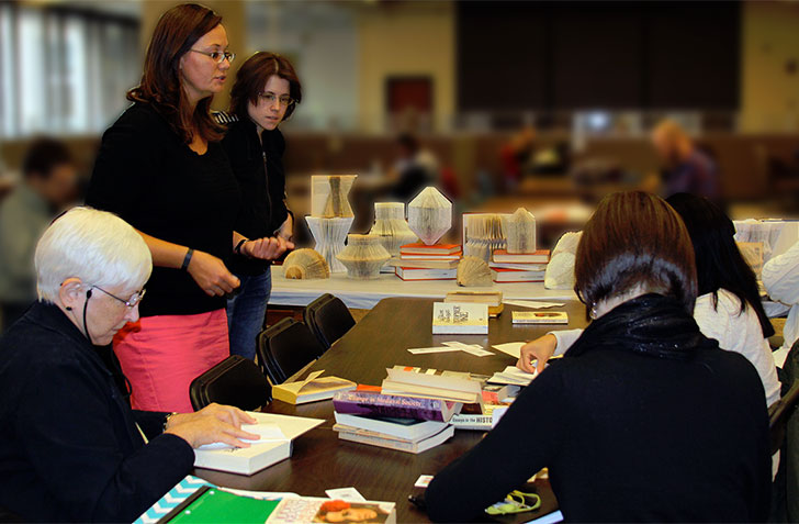 Folding Book Art at Cleveland State University Michael Schwartz Library, Octavofest 2014
